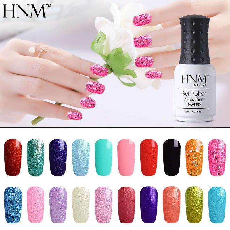 Find More Nail Gel Information about HNM 8ML 194 Rough Colors UV Gel ...