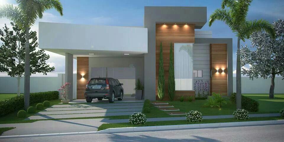 Fachada casa pequena fachadas pinterest fachadas for Fachadas casa modernas pequenas