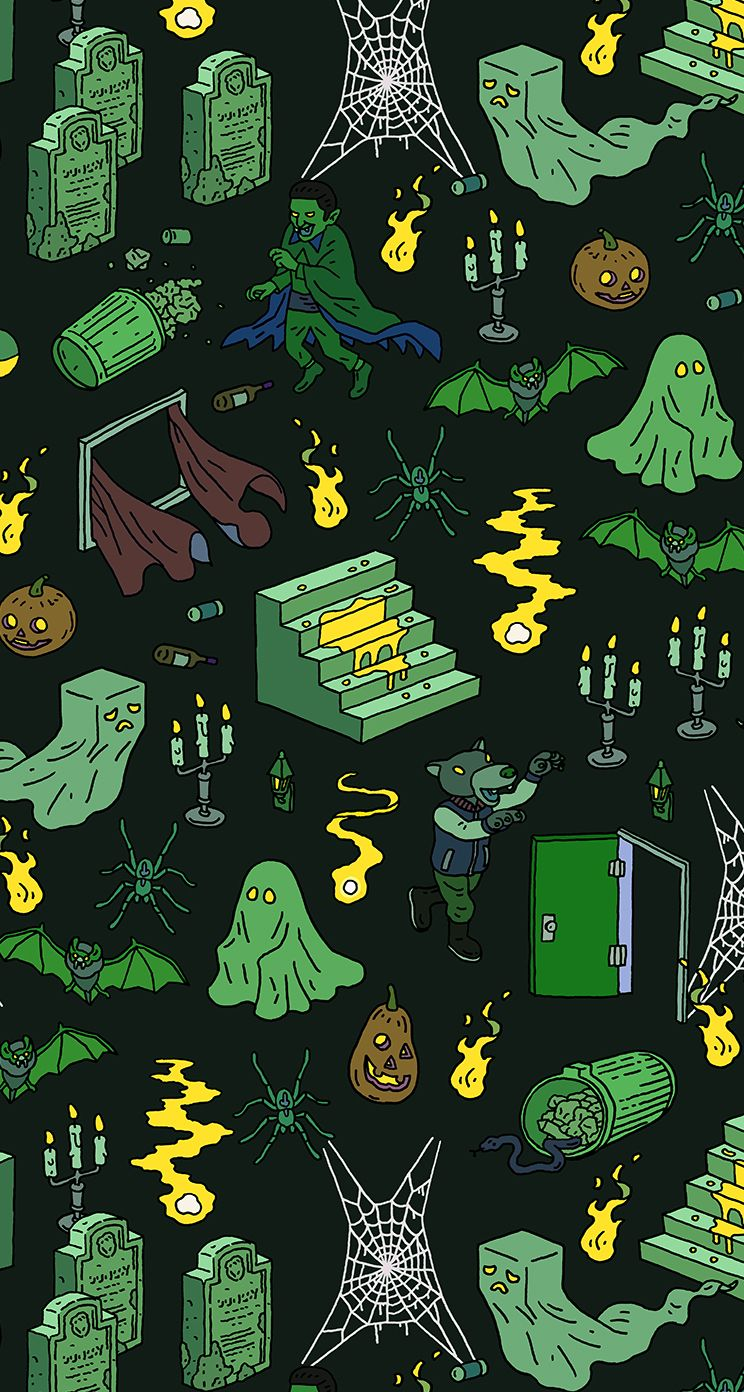 Iphone wallpaper halloween tumblr - Halloween Pattern By Tatsushi Eto Illustration Drawing Pattern