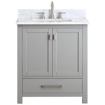 Avanity Modero 31 Inw X 22 Ind X 35 Inh Vanity In Chilled New 30 Bathroom Vanity With Top Design Inspiration
