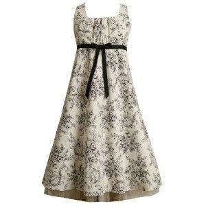 David Flower Girl Plus Dresses BLACK AND WHITE | Bonnie Jean Girl PLUS SIZE BLACK WHITE TOILE PRINT EMPIRE... review ...