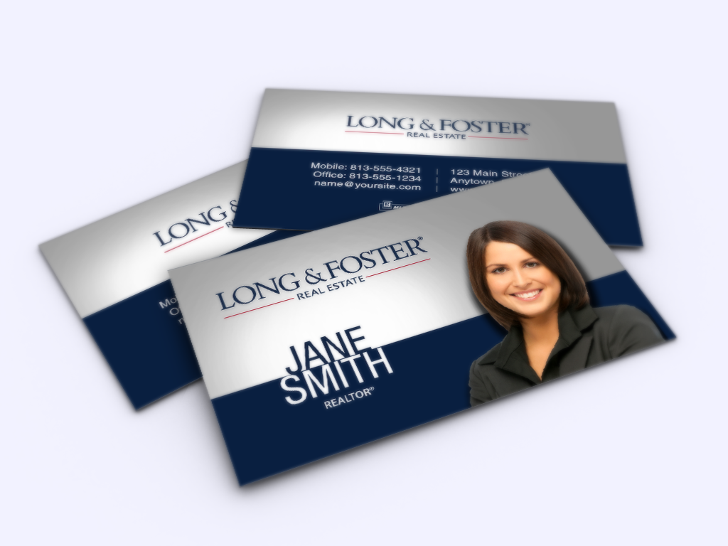 New Modern Business Card Designs Are Here For Long And Foster Realtors Realtor The Modern Business Cards Design Modern Business Cards Business Cards Online