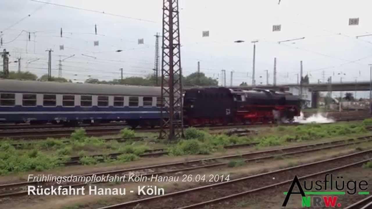 Frühlingsdampflokfahrt von #Koeln Hauptbahnhof nach #Hanau http://www.ausflugsziele-nrw.net/