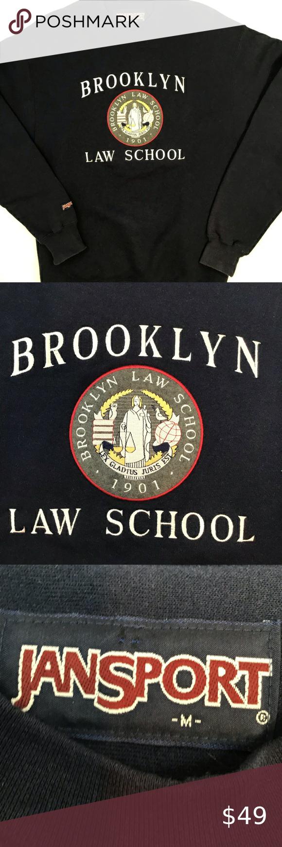 Vtg Brooklyn Law School Crewneck Vintage Brooklyn Law School Crewneck Sweatshirt Dead Stock Never Worn Pris Sweatshirt Shirt Law School Crew Neck Sweatshirt