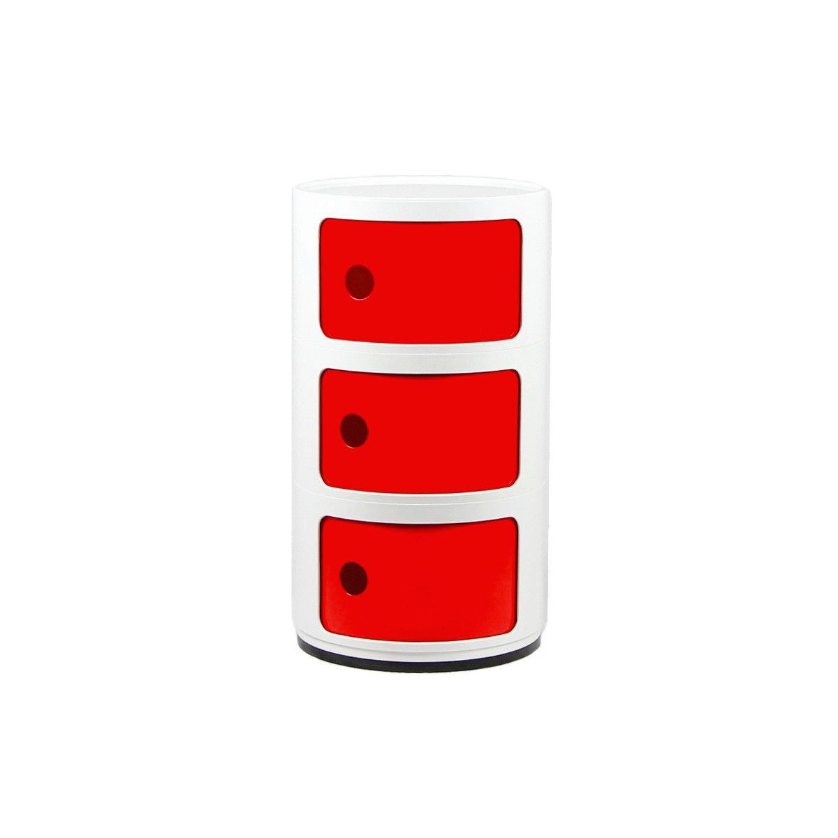 Stacked Storage White Red Triple Stack 100