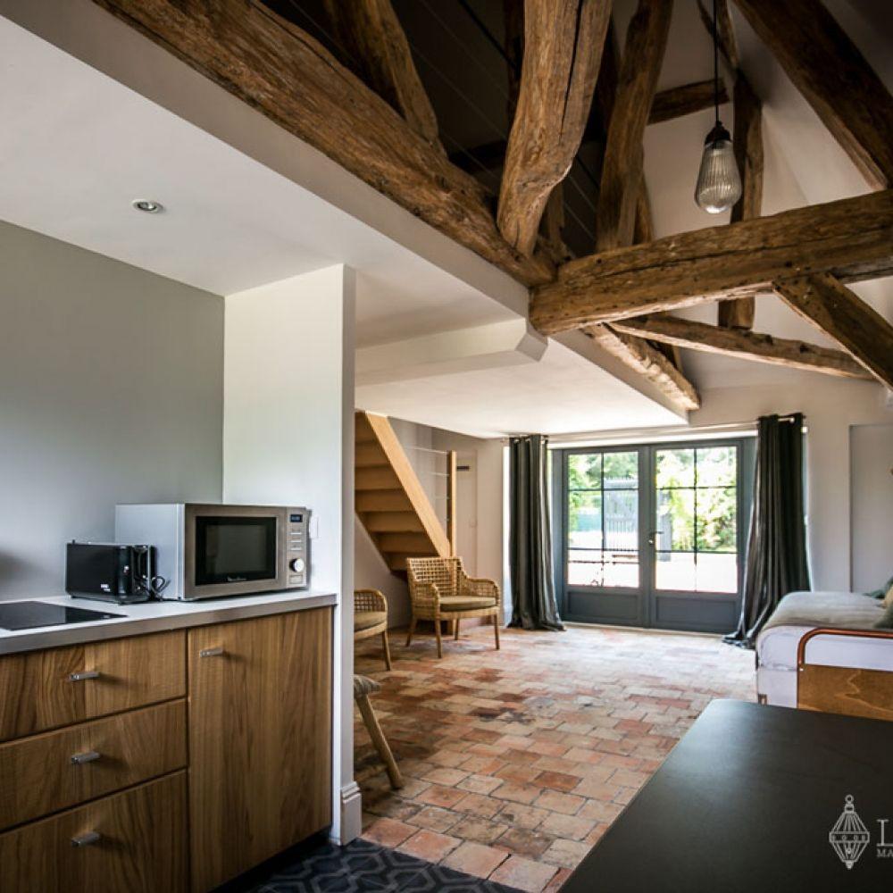 g te mezzanine la d me de giverny petits espaces pinterest mezzanine gite et espaces. Black Bedroom Furniture Sets. Home Design Ideas