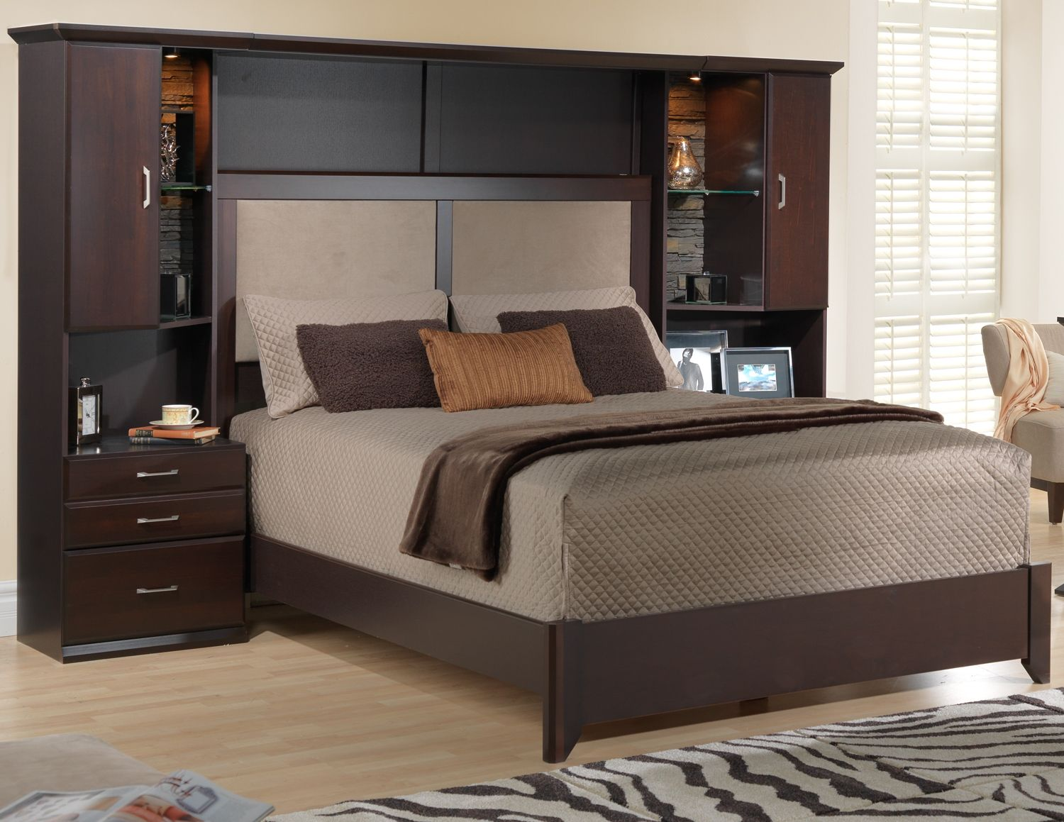 Sherwood Bedroom 6 Pc. Queen Wall Bed Package   Leonu0027s House Furniture,  Bedroom Furniture