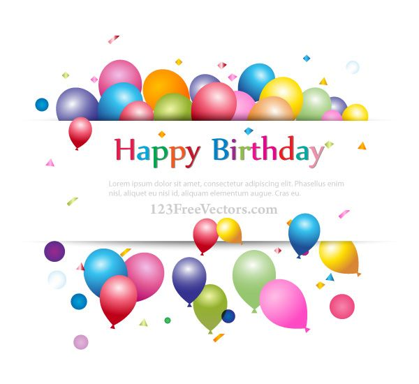 Happy Birthday Background Banner Design for Your Text