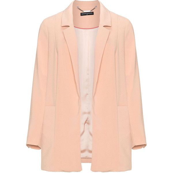 94c2836c285 Manon Baptiste Pink Plus Size Open front boyfriend blazer (2.515 ARS) ❤  liked on Polyvore featuring outerwear
