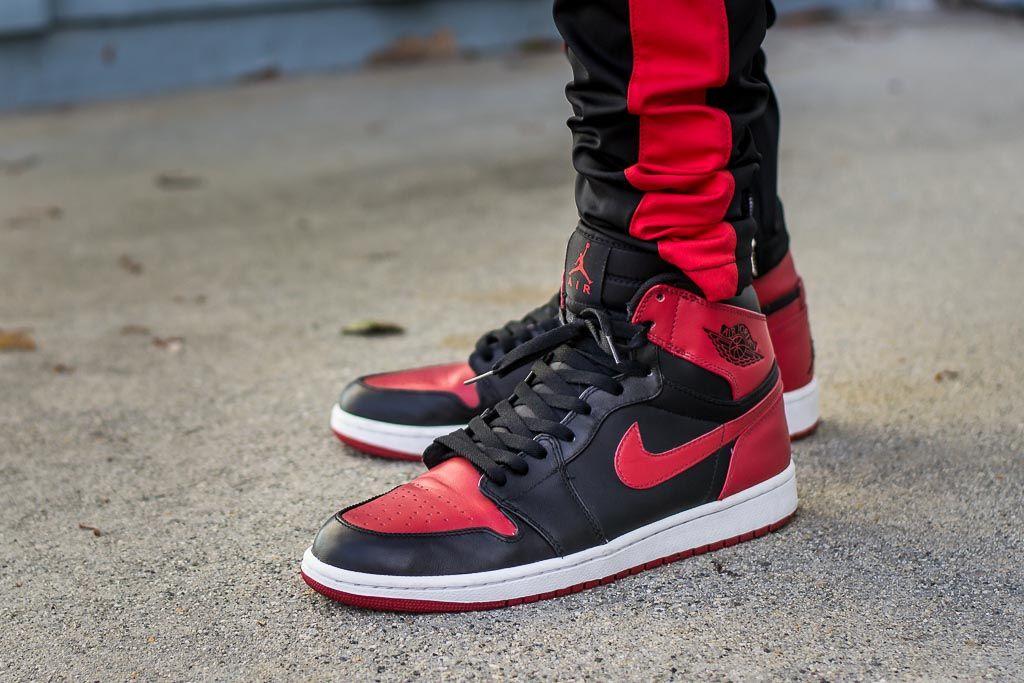 0a15d027950 DMP Air Jordan 1 Bred On Feet
