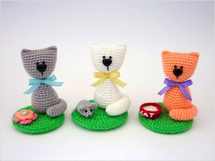 Souvenir cat amigurumi pattern | Patrones, Gato y Gato con botas