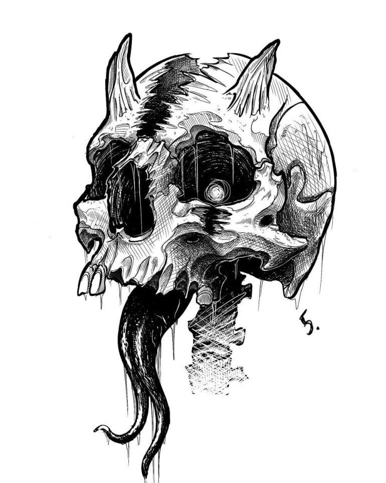 Skull Tattoo On Inspirationde Skull Art Drawing Skull Tattoo Design Skull Art