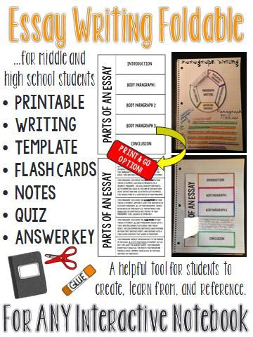 Essay Interactive Notebook: Activities for Middle and High School ...