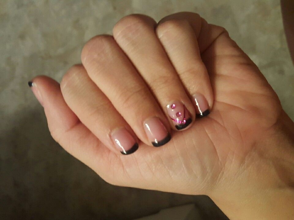 Fantastic French Tip With Accent Nail Collection - Nail Art Ideas ...
