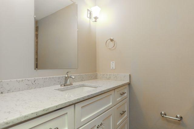 Sherwin Williams Eider White Lyria Quartz Counter Tops Chrome - Bathroom vanities overland park ks