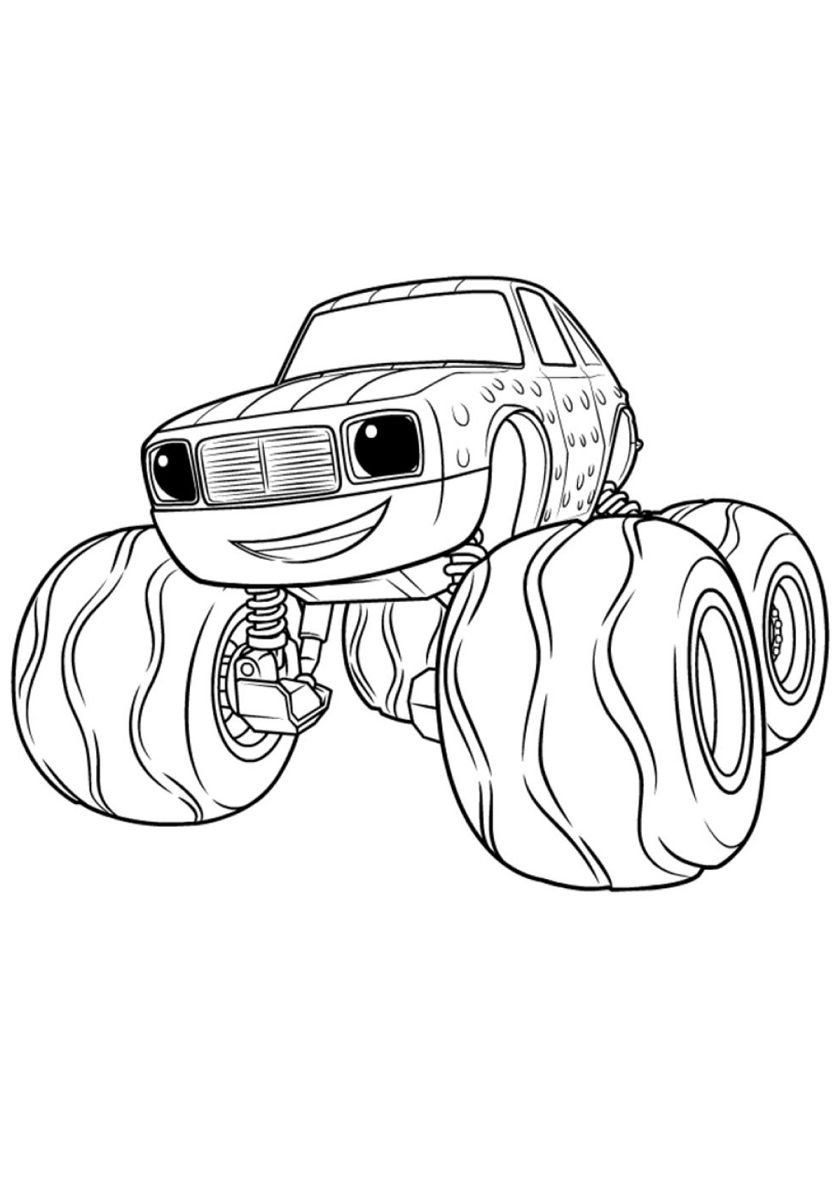 Blaze And The Monster Machines Coloring Pickle High Quality Free Coloring From Th Monster Truck Coloring Pages Paw Patrol Coloring Pages Crayola Coloring Pages