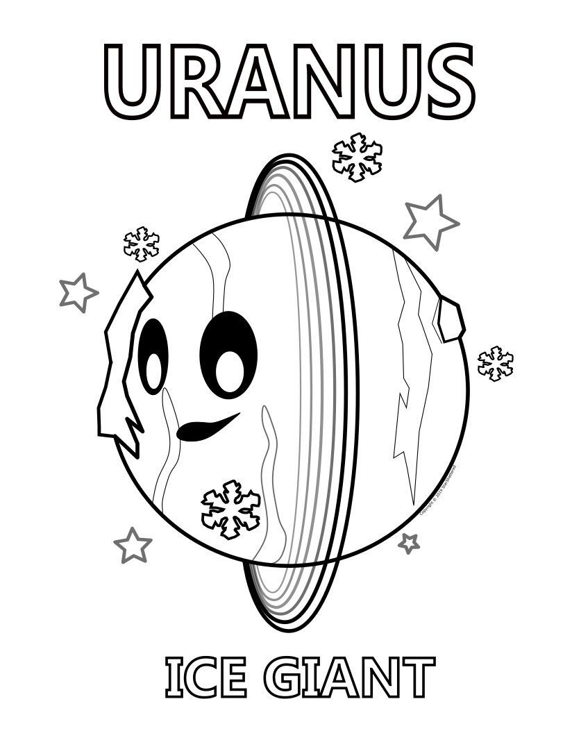 Printable Uranus Kids Coloring Page Astronomy For Kids By Starshattered On Etsy Coloring For Kids Coloring Pages For Kids Coloring Pages