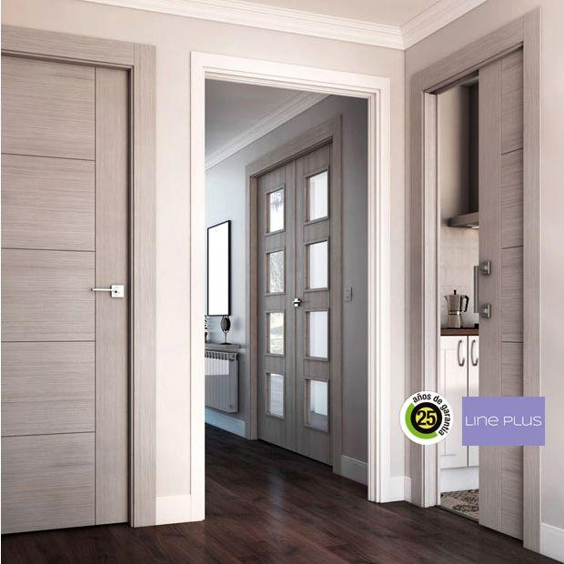 Afbeeldingsresultaat voor puertas oficina madera gris for Puerta interior gris