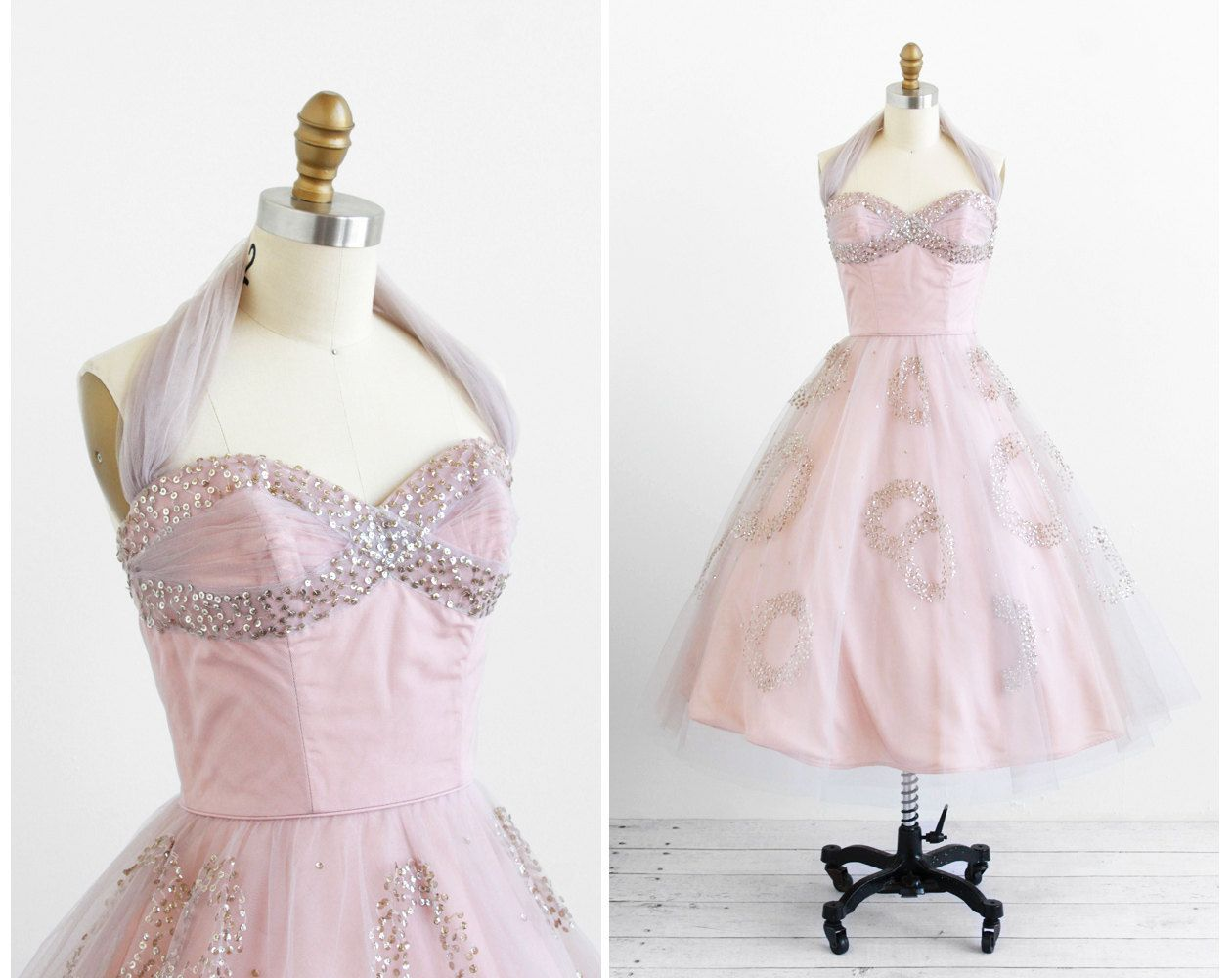 Vintage s dress s dress sequins and tulle fairy tale