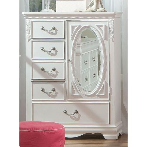 Kids Bedroom Set Clearance: Clearance Jessica White Traditional Wardrobe Chest Of