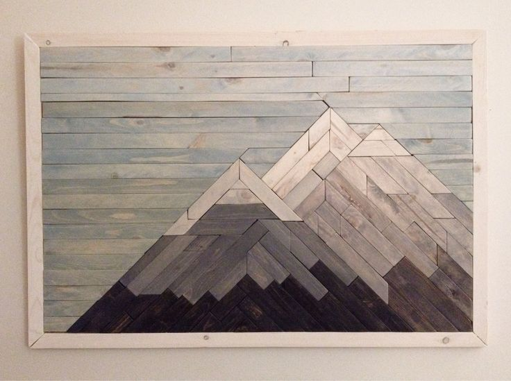 Mountain Artwork Made From Wood Google Search Mountain Wood Art Mountain Wood Wall Art Mountain Wall Art