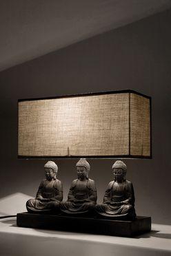Marvelous Table Lamp Sitting Buddha Rectangular_ Two Bedroom Villa Living Room
