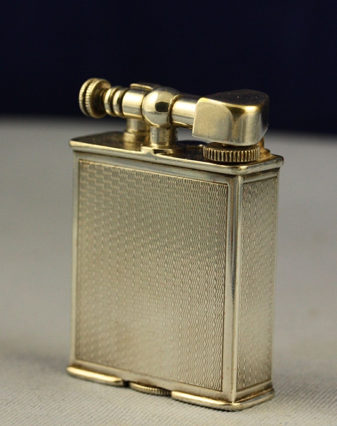 Details Vintage 1930s Silver Alfred Dunhill Patent