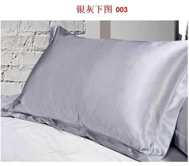 Satin Pillowcase For Curly Hair 2016 New Double Face Envelope Pure Emulation Silk Satin Pillowcase