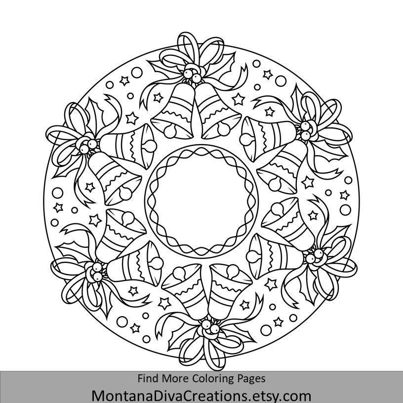 Winter Mandala Coloring Fun Stop By Our Etsy Shop And Grab Some