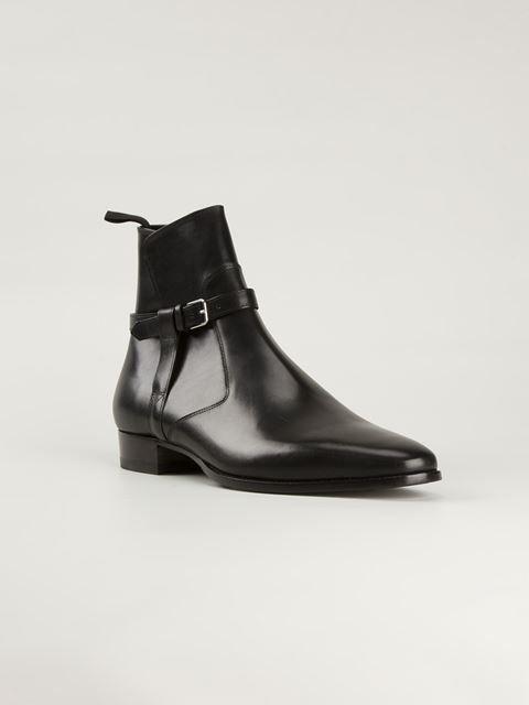 a2e95ff7102 Saint Laurent 'jodhpur' Ankle Boots - Verso | Shoewear | Mens ankle ...