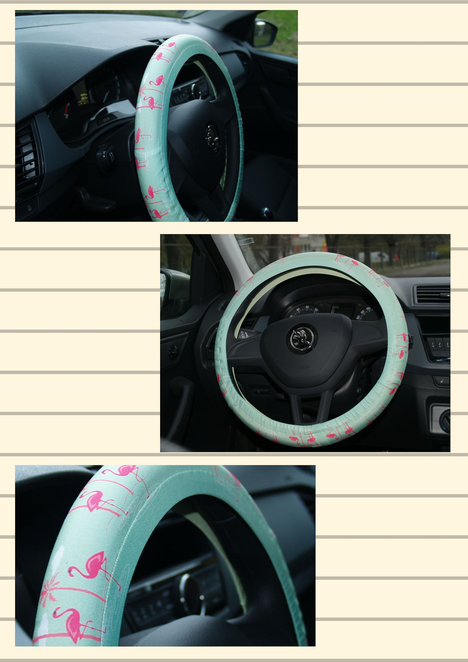 Flamingos Steering Wheel Cover Car Accessory Gifts For Her