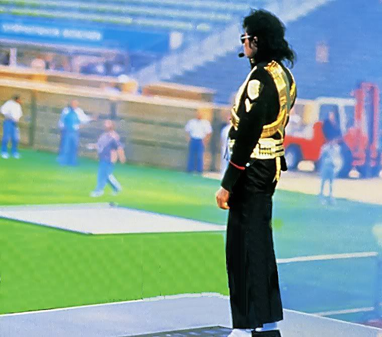 Michael Jackson at rehearsing for 1993 Superbowl halftime
