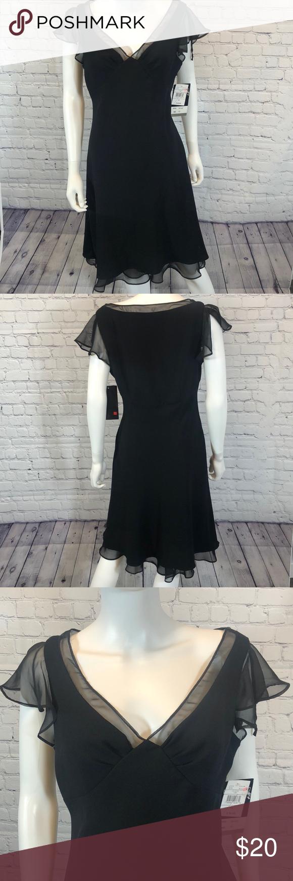 Black Dress Size 12 Nwt Clothes Design Dresses Black Dress [ 1740 x 580 Pixel ]