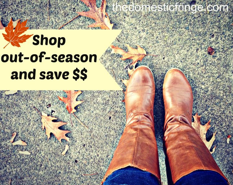 Shop Out Of Season and Save Money - part of the Cheap Tricks series on The Domestic Fringe