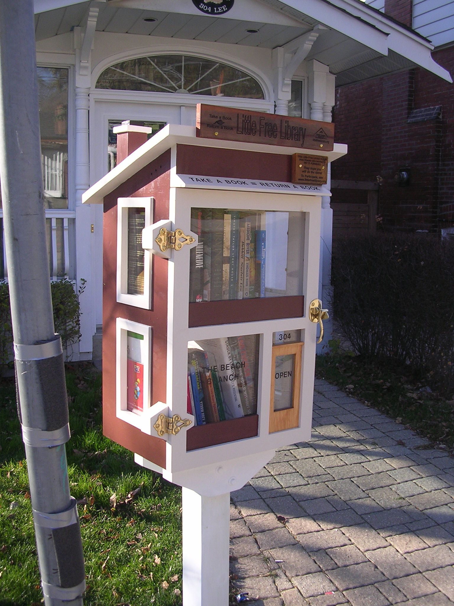 Will and I are building a little lending library in front