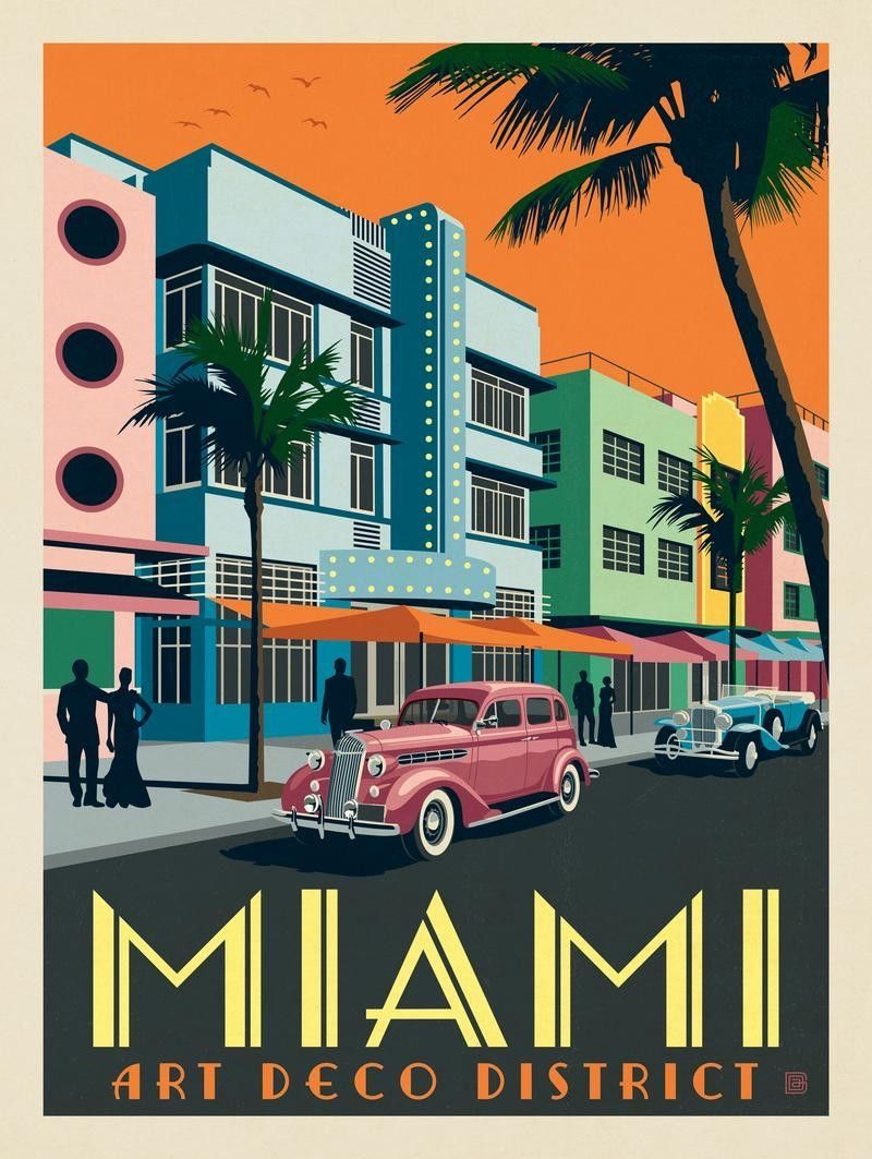 Miami Vice Tv Show Art Silk Poster 12x18 24x36
