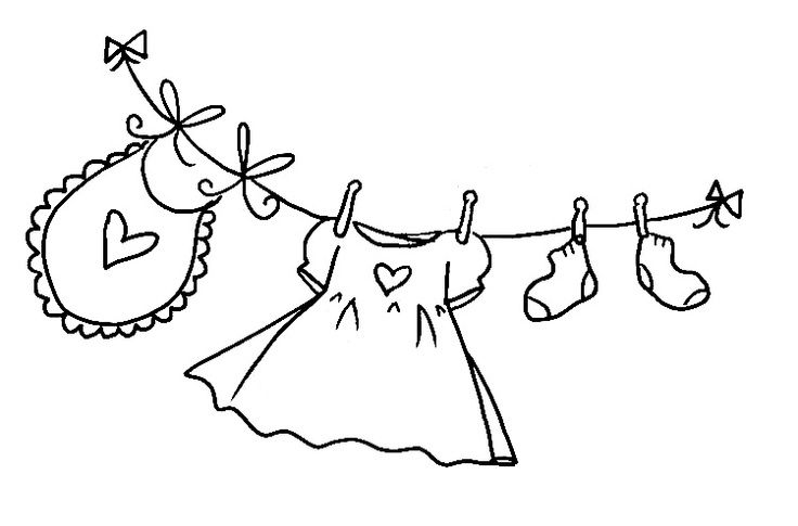 Baby Girl Clothesline Clipartbaby Girl Clothesline Redwork Pinterest 176uihtt Jpg 736 485 Baby Embroidery Hand Embroidery Patterns Embroidery Applique