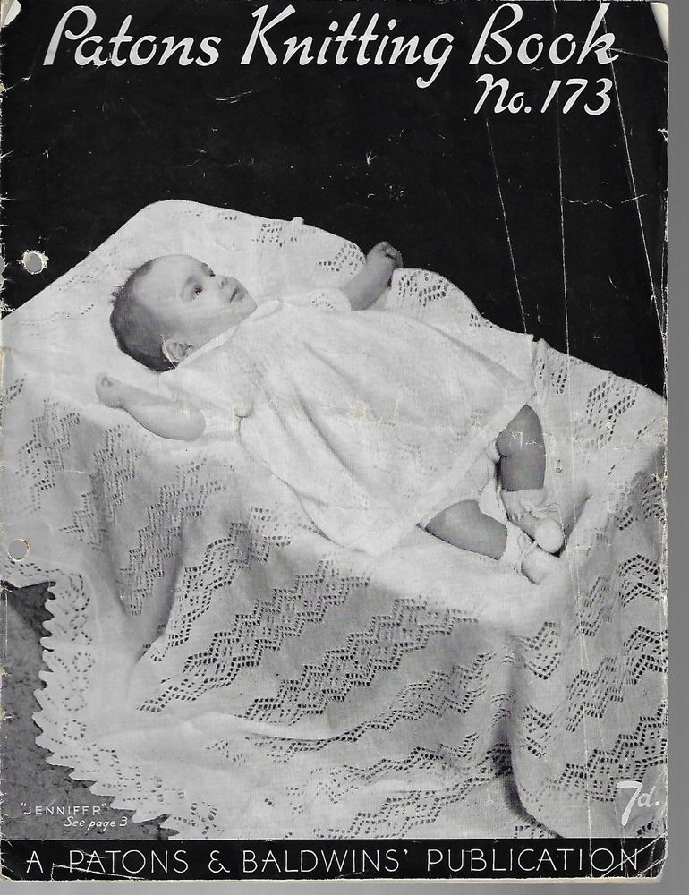 Baby Knits Patons Book 173 Vintage Knitting Pattern Book Patons