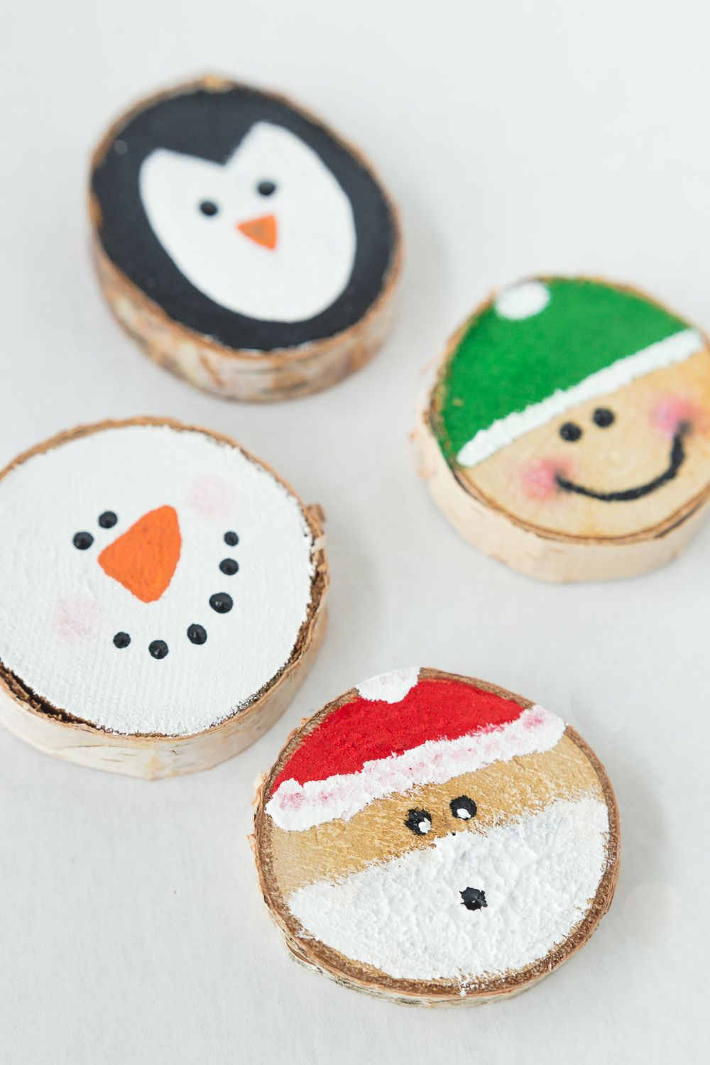 Wood Slice Ornaments Christmas ornament crafts