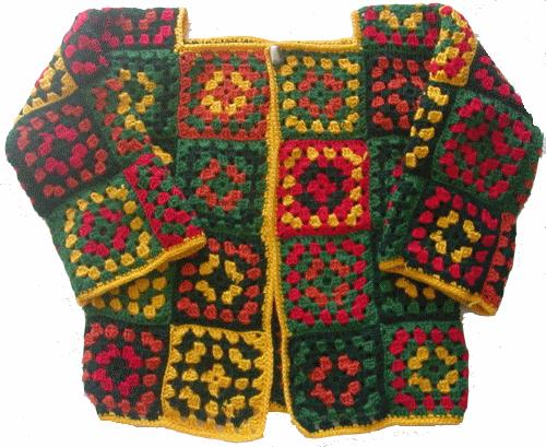 Gilet Tube De 52 Carrs Granny   Crochet  Trico-6875