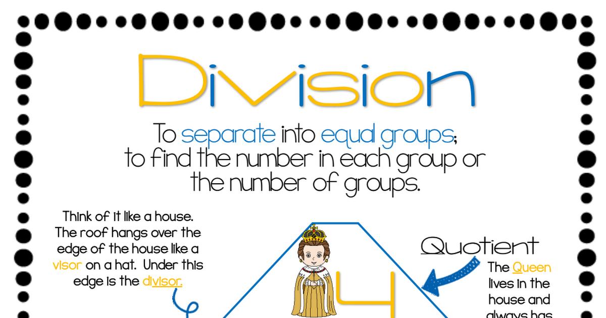 Quotient Poster.pdf Math interactive notebook, Third