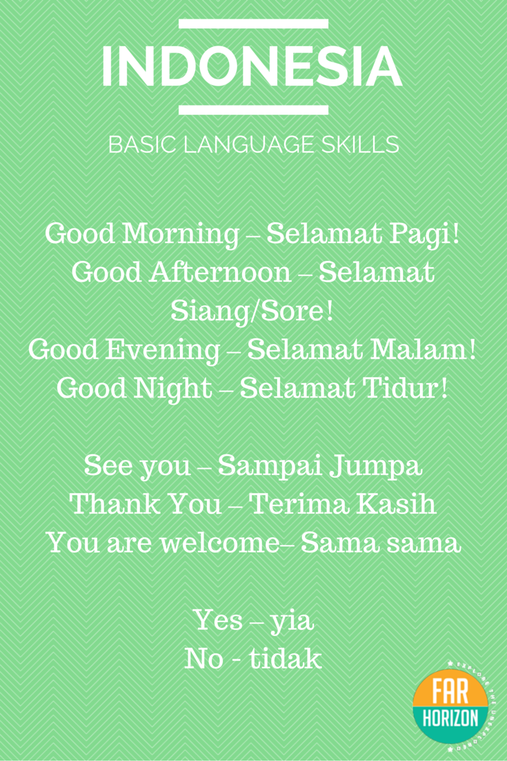 REBLOGGED Bahasa Indonesia Basic Indonesian Words.