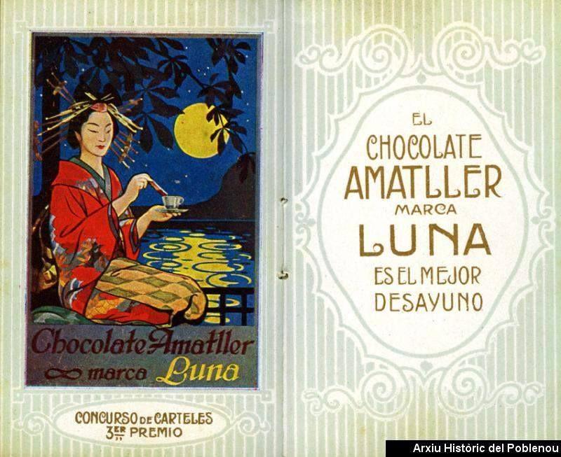Almanaque de chocolates Amatller de 1916