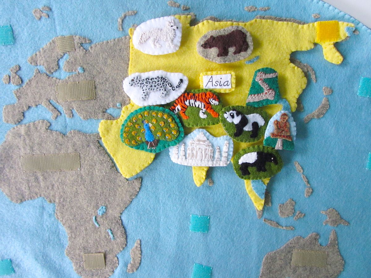 Animals of asia for the montessori wall map quietbook with animals of asia for the montessori wall map quietbook with printables gumiabroncs Gallery