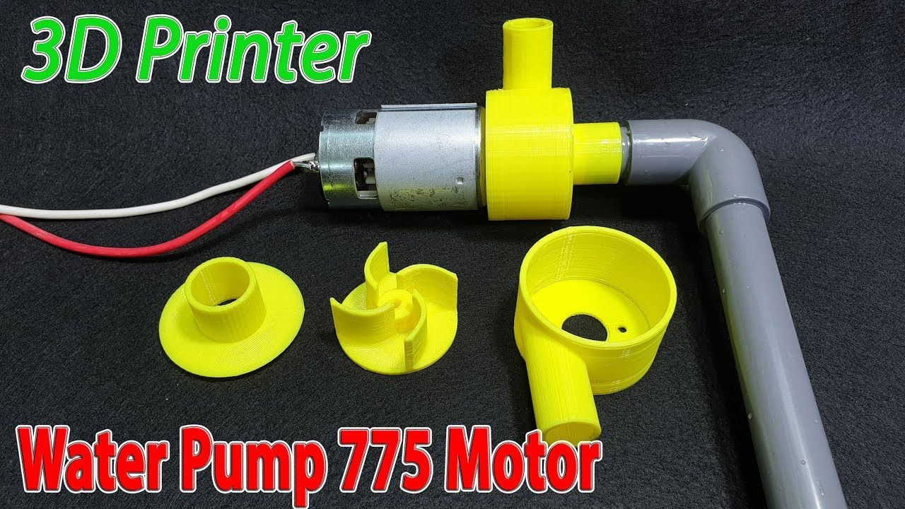 Build Powerful Water Pump 12volt With 775 Motor And 3d Printer Diy Water Pump Water Pump Motor Water Turbine