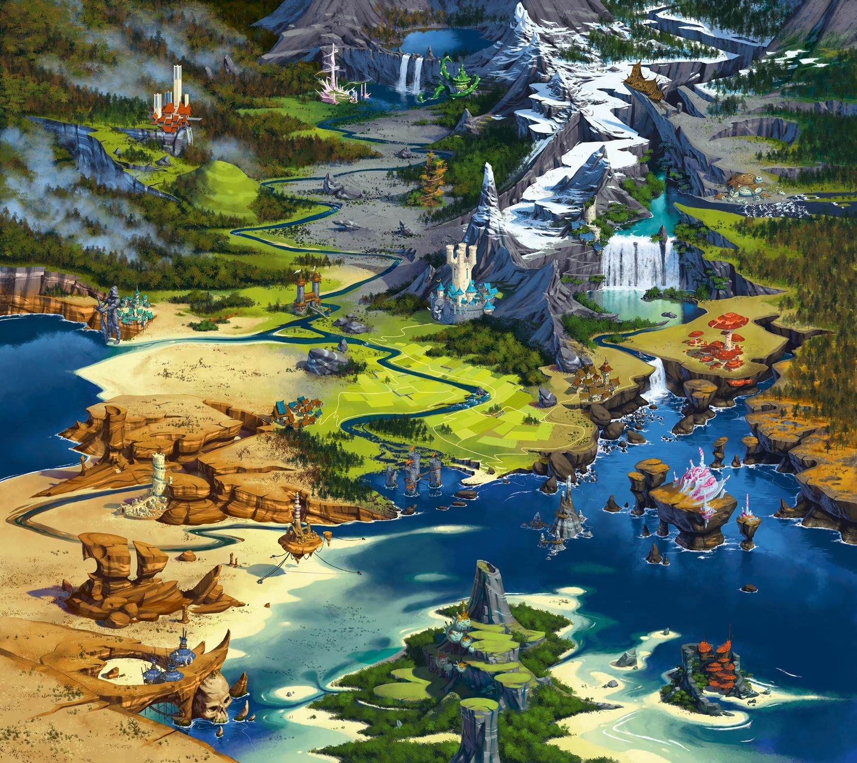 Map : Are there any maps of regions of Earth in this fantasy style