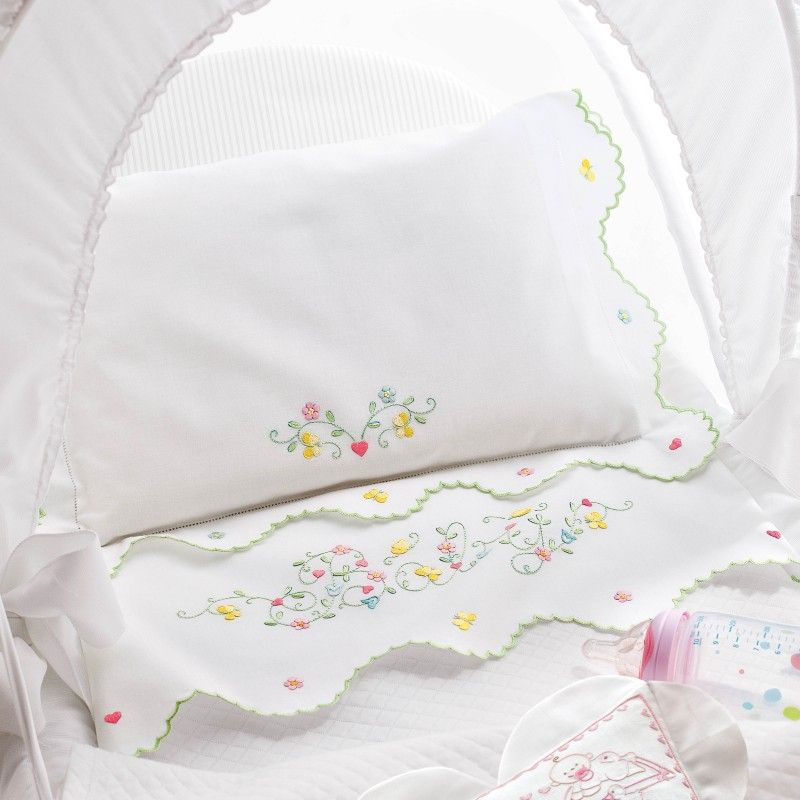 Resultado de imagem para lenzuolini neonato ricamati | baby ...