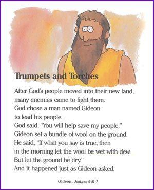 Gideon - Clipart - SundaySchoolist  Gideon