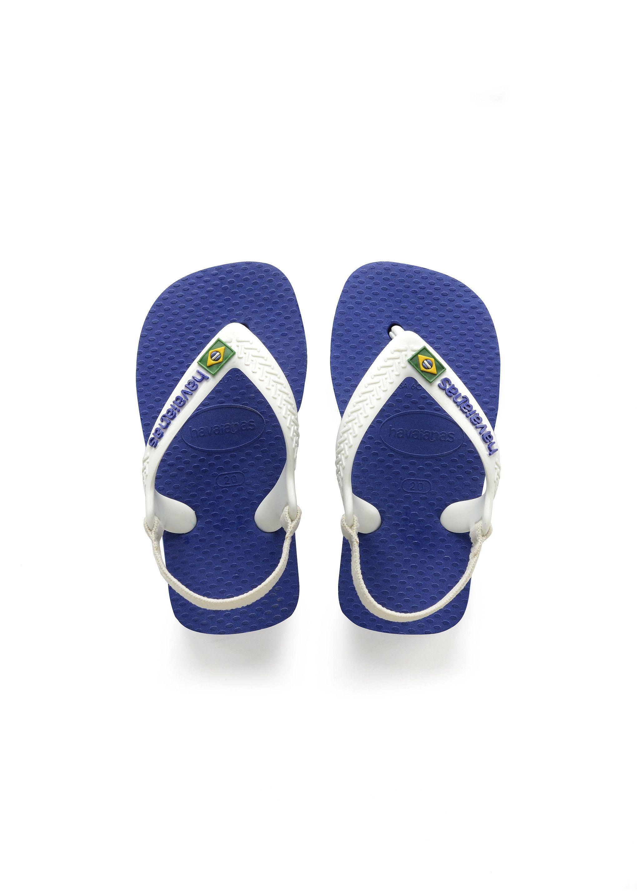 dde76a129d10 Havaianas Baby Brazil Logo Sandal Marine Blue