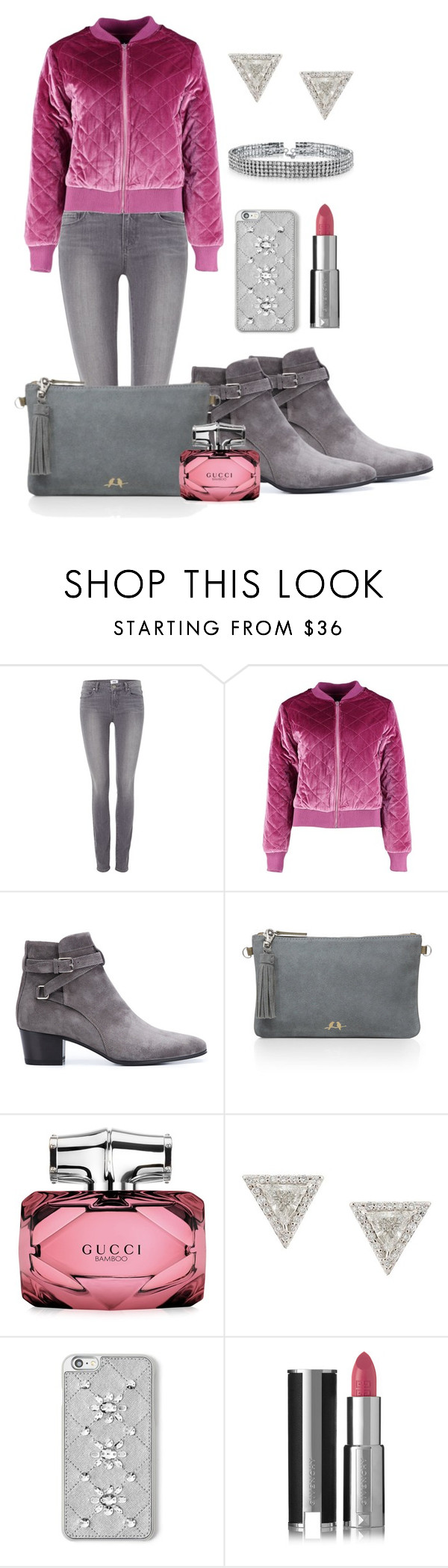 """""""Becca"""" by thoughts-of-thea ❤ liked on Polyvore featuring Paige Denim, Boohoo, Yves Saint Laurent, Chloe + Isabel, Gucci, Lizzie Mandler, MICHAEL Michael Kors, Givenchy and Bling Jewelry"""